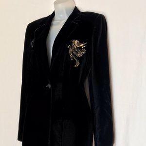 Escada Vintage Black Velvet Jacket
